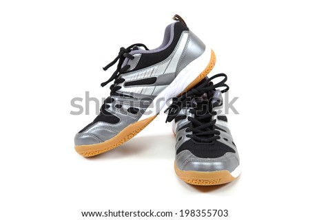 Stylish sport shoes isolated on white background. Sneakers. - stock photo