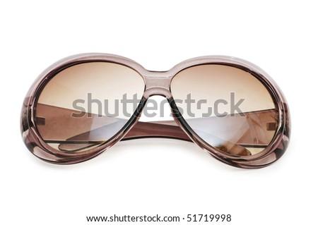 Stylish sunglasses isolated on the white background - stock photo