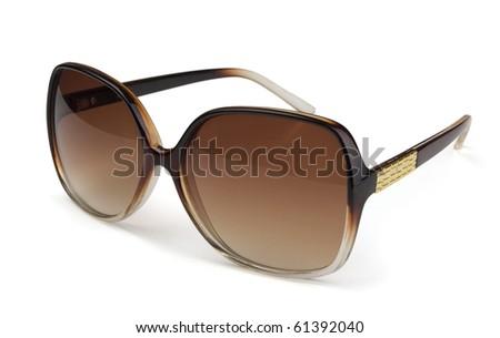 Stylish sunglasses isolated on  white - stock photo