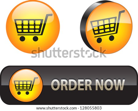 Stylish web elements for ecommerce - stock photo