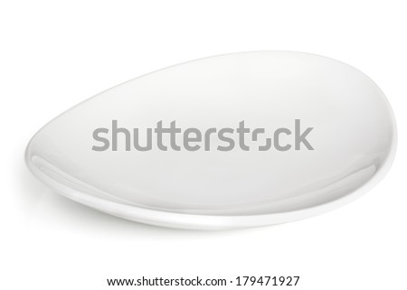 Stylish white bowl isolated with soft shadow. - stock photo
