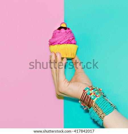 Stylish Wrist Accessories. Vanilla Summer Trend - stock photo