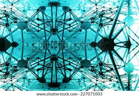 stylized abstract science background - stock photo