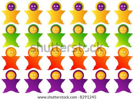 stylized baby fruit jelly gum shapes - stock photo