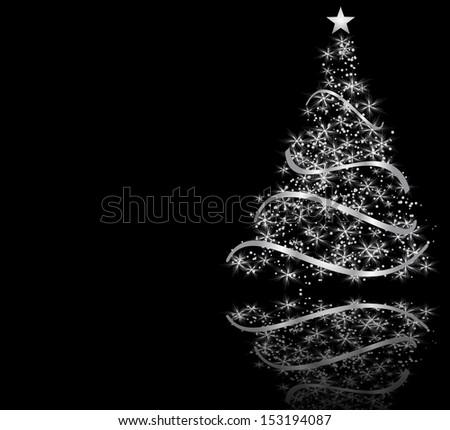 stylized Christmas tree. raster copy  - stock photo