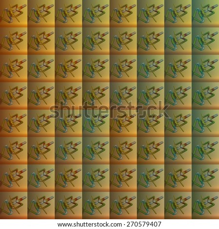 Stylized frog natural repeating ornament mentioned background pattern - stock photo