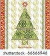 Stylized lace christmas tree. Ready to print raster image - stock photo