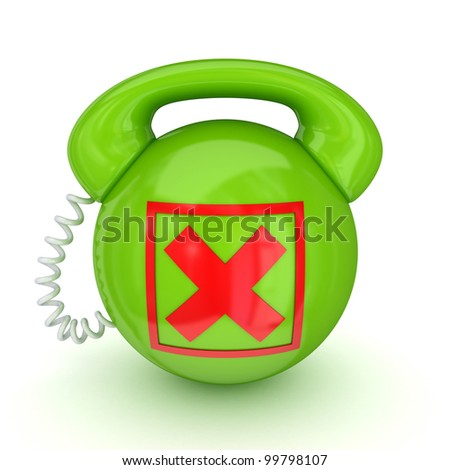 Stylized telephone.Isolated on white background.3d rendered. - stock photo
