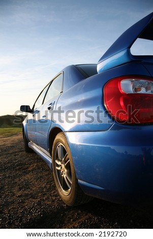 Subaru Impreza - Concept of Fast Performance Vehicles - stock photo