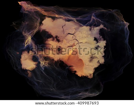 Subjective Neuron series. Backdrop composed of abstract shapes, colors and elements and suitable for use in the projects on mind, virtual reality, technology, science and design - stock photo