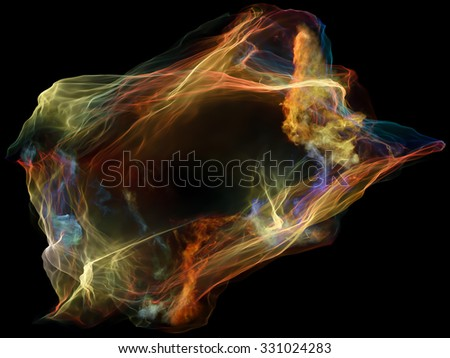 Subjective Neuron series. Backdrop of  abstract shapes, colors and elements to complement your design on the subject of mind, virtual reality, technology, science and design - stock photo