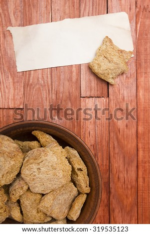 Substitution of meat organic soya plant products. - stock photo
