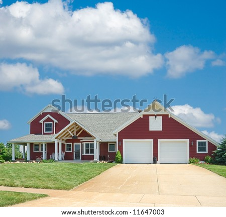 Stock images similar to id 545073 brick ranch home for Ranch homes with vinyl siding