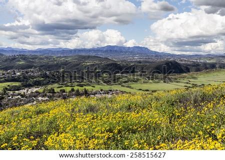 Suburban Thousand Oaks near Los Angeles in Southern California. - stock photo