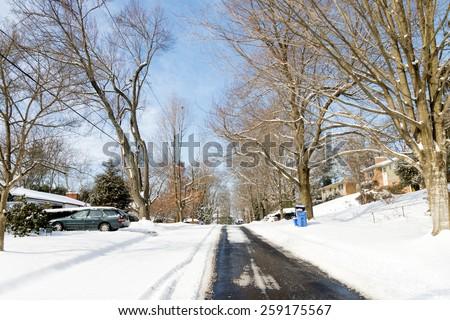 Suburban Winter - Maryland - stock photo