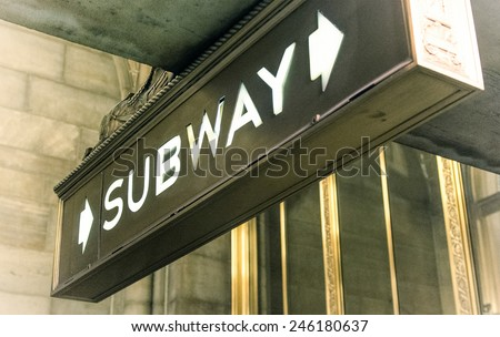 Subway - stock photo