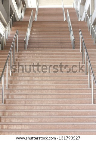 Subway station staircase - stock photo