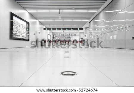 Subway ticket gate - stock photo