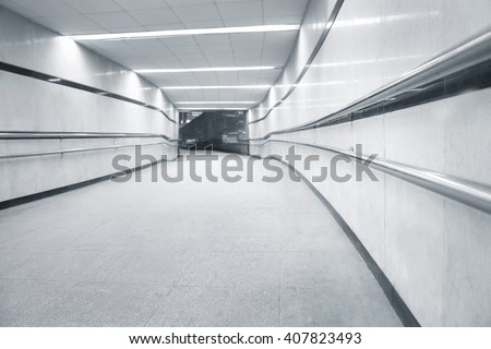 Subway underpass tunel passage for pedestrians - stock photo