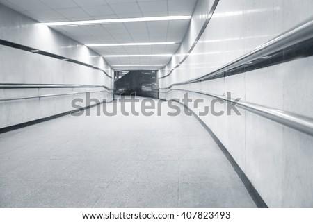 Subway underpass tunel passage for pedestrians - stock photo
