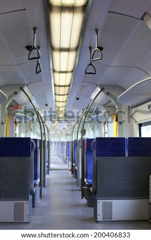 subway wagon in Munich  - stock photo