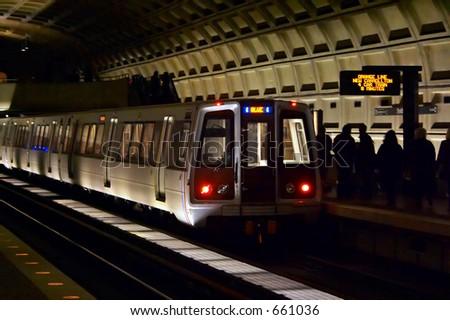 Subway. Washington, DC - stock photo