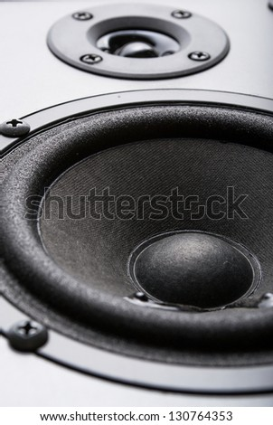Subwoofer for music - stock photo