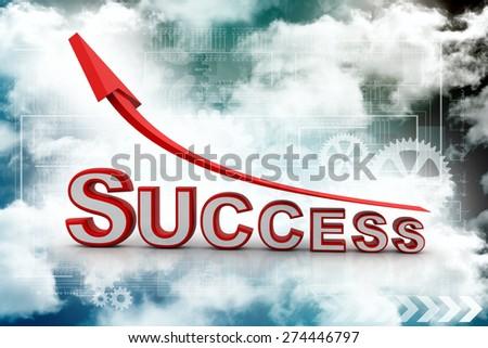 success arrow - stock photo