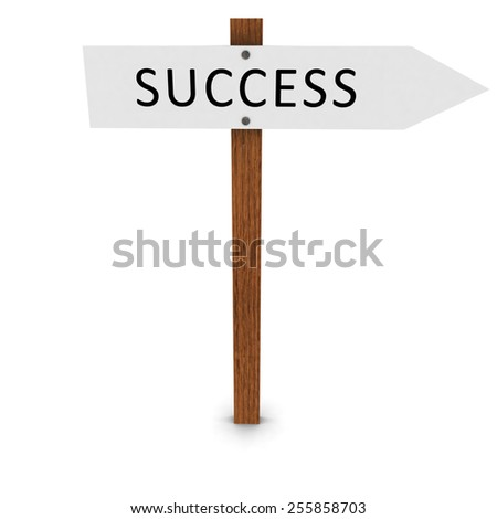 Success Arrow Sign Pointing Right - stock photo