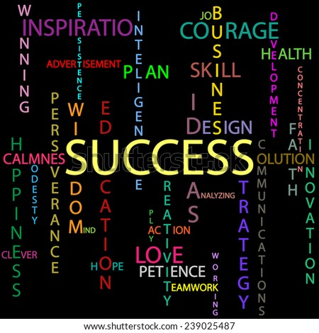 Success background - stock photo