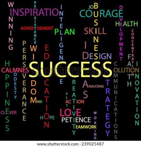 Success background - stock photo