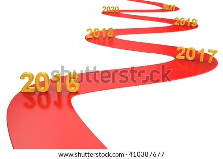 success business concept 2016 year, 3D rendering - stock photo