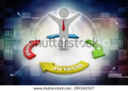Success business man - stock photo