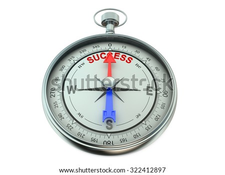 Success concept isolated on white background - stock photo