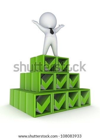 Success concept.Isolated on white background.3d rendered. - stock photo