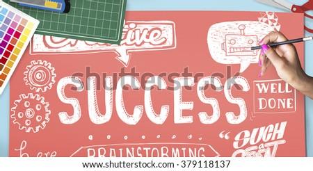 Success Goal Improvement Achievement Mission Concept - stock photo