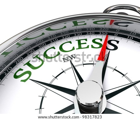 success green word indicated by compass conceptual image.clipping path included - stock photo