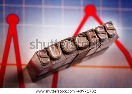 Success made by font face - stock photo