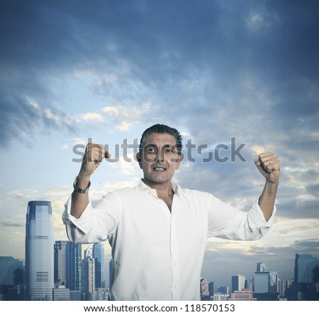 Success of a businessman concept - stock photo