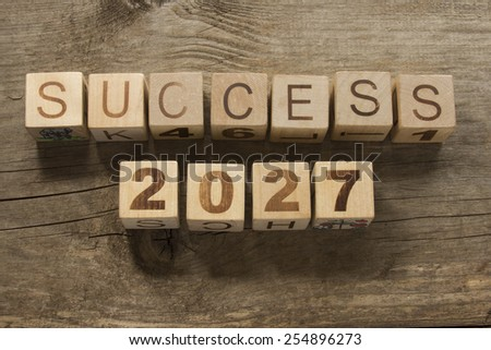 success 2027 on a wooden background - stock photo