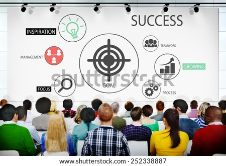 Success Seminar Meeting Conference Motivation Concept - stock photo