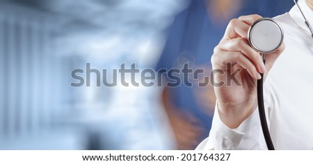 success smart medical doctor working with operating room as concept - stock photo