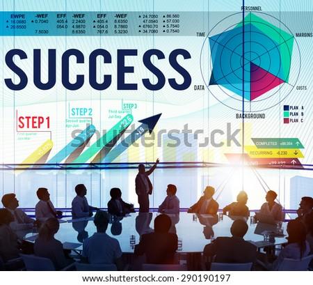 Success Successful Goal Achievement Complete Concept - stock photo