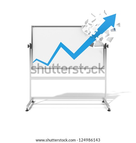 Success symbol with an education board isolated on a white background - stock photo