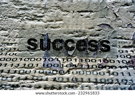 Success text on grunge background - stock photo