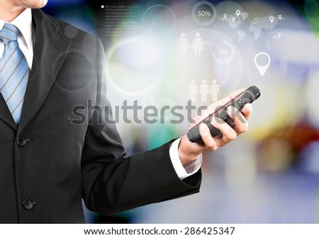 Success, touchscreen, phone. - stock photo