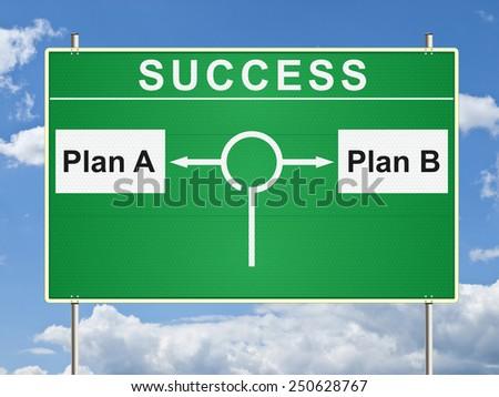 Success traffic sign. Raster - stock photo