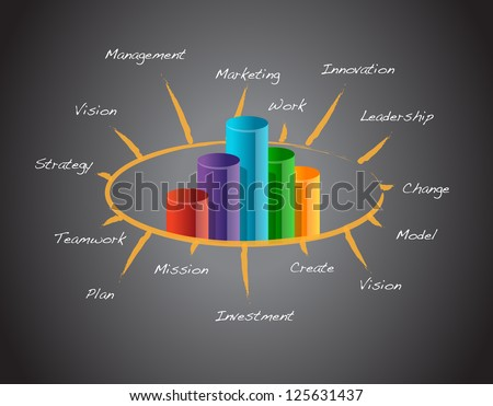 Successful business concept illustration design over a blackboard - stock photo