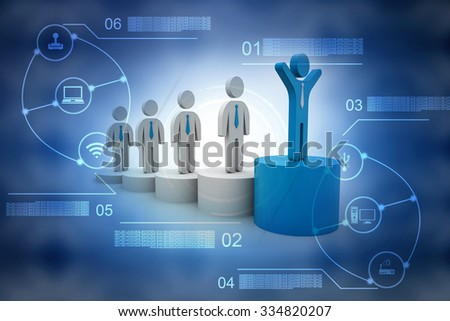 Successful business leader standing - stock photo
