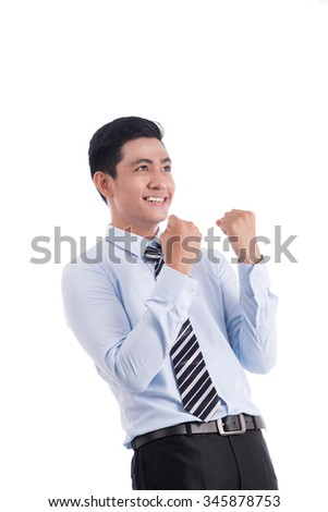 Successful business man isolated on white background. Successful business man isolated on white background. - stock photo